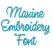 Maxine Font Digital Machine Embroidery Designs by JuJu
