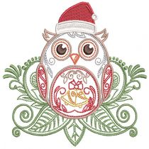 Mehndi Christmas Owls