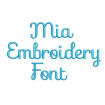 Mia Embroidery Font