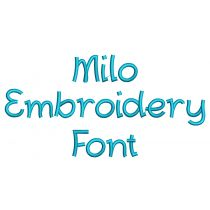 Milo Embroidery Font