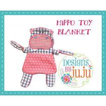 Hippo Toy Blanket