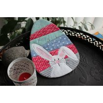 Mug Rug Pieced Easter Egg Bunny