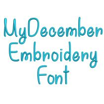 My December Embroidery Font