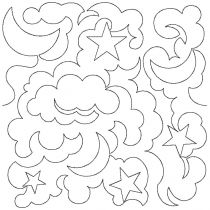 Night Sky e2e Edge-To-Edge Quilt Block Embroidery Design by JuJu End-to-End Quilting
