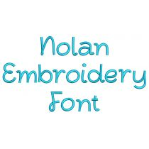 Nolan Embroidery Font
