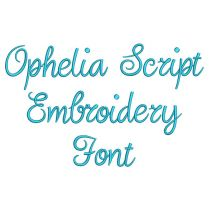 Ophelia Script Embroidery Font