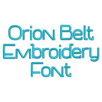 Orion Belt Embroidery Font