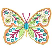 Ornamental Butterflies Machine Embroidery Designs by JuJu