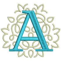 Ornamental Serif Satin Monogram