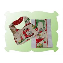 Dolly Bib and Burp Cloth Gift Set