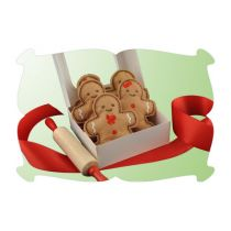 Gingerbread Cookies Felt Play Food