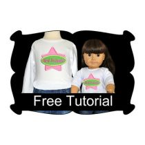 How to Hoop and Embroider Doll Shirts Tutorial