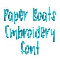 Paper Boats Embroidery Font