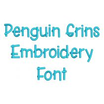 Penguin Grins Embroidery Font