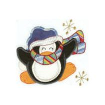 Christmas Penguins Applique 4x4 and 5x7