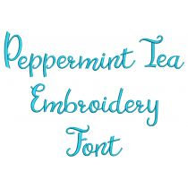 Peppermint Tea Embroidery Font