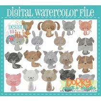 Multiple Pets Pack Digital Watercolor PNG File
