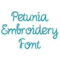 Petunia Embroidery Font