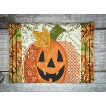 In The Hoop Big Pumpkin Mug Rug Machine Embroidery Designs by JuJu