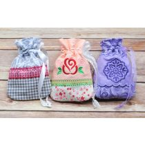 Designs by JuJu In The Hoop Pretty Treat Gift Bags Set 2 Machine Embroidery Designs