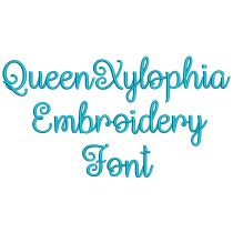 Queen Xylophia Embroidery Font