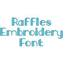Raffles Embroidery Font