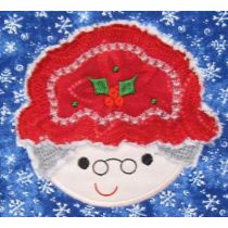 Mrs. clause claus applique machine embroidery design