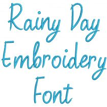 Rainy Day Embroidery Font