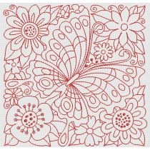 Redwork Garden Blocks Designs by JuJu Machine Embroidery Designs