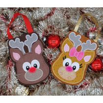 Designs by Juju In The Hoop Machine Embroidery Designs Reindeer Christmas Treat Bags