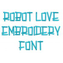 Robot Love Embroidery Font