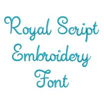 Royal Script Embroidery Font