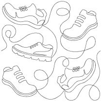 Running Shoes End-to-End Quilting Embroidery Design