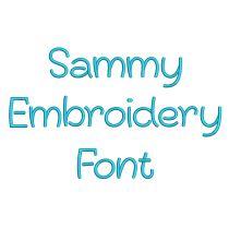 Sammy Embroidery Font