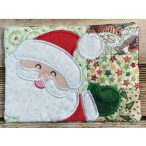 Designs by JuJu Christmas Patchwork Mug Rugs In The Hoop Machine Embroidery Designs