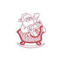 Simply Santa Redwork