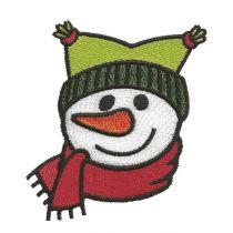 Cute Snowmen Faces Filled