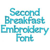 Second Breakfast Embroidery Font