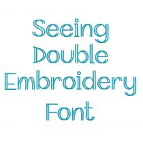 Seeing Double Embroidery Font