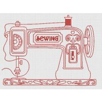 Vintage Sewing Machines Redwork Machine Embroidery Designs by JuJu