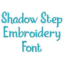 Shadow Step Embroidery Font Machine Embroidery Designs by JuJu