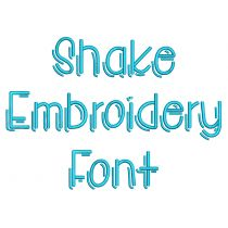 Shake Embroidery Font