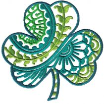 Ornamental Shamrocks St Patricks Day Designs by JuJu Machine Embroidery Designs