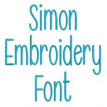 Simon Embroidery Font