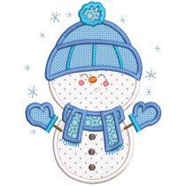 Sweet Snowmen Applique Machine Embroidery Designs By JuJu