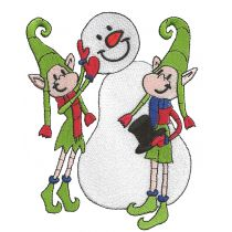 Quirky Christmas Elves Filled