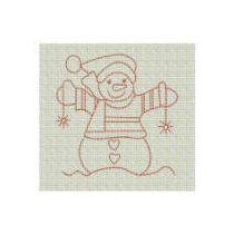 Simply Snowmen Redwork