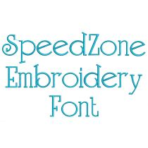 Speed Zone Embroidery Font