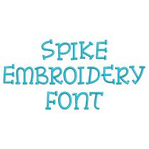 Spike Embroidery Font