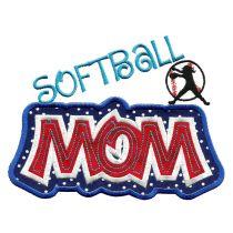 Sports Mom Applique Set 2 Machine Embroidery Designs by JuJu